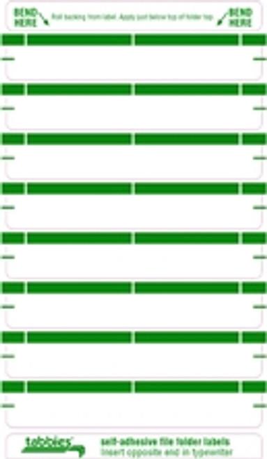 Color Coded File Folder Labels - Green - 248/Pack
