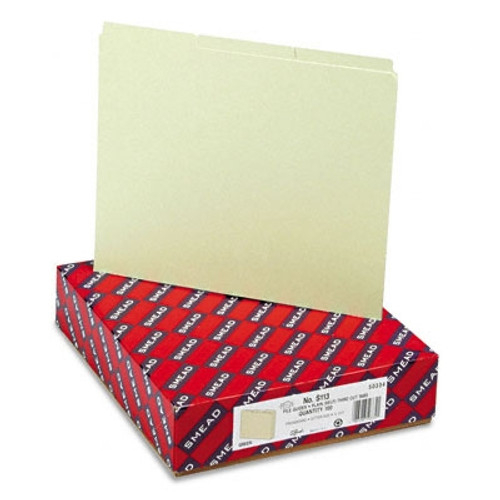 Smead Pressboard Guides, Plain 1/3-Cut Tab (Blank), Letter Size, Gray/Green, 100 per Box (50334)