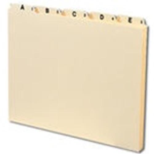Smead Guides, Plain 1/5-Cut Tab (A-Z), Letter Size, Manila, 25 per Set (50176)