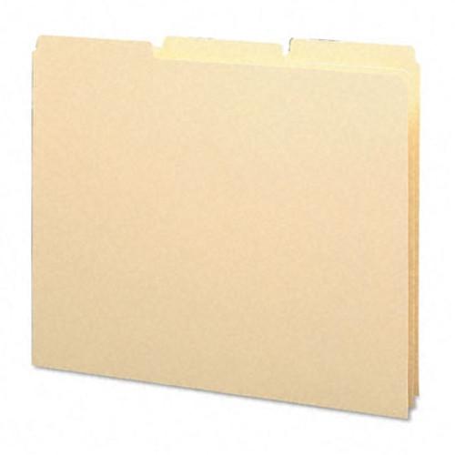 Smead Guides, Plain 1/3-Cut Tab (Blank), Letter Size, Manila, 100 per Box (50134)