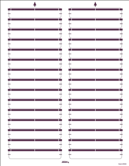 Color Coded Laser/Inkjet File Folder Labels - Purple - 750 Labels/Pack