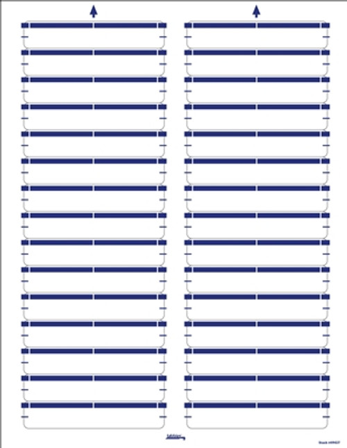 Color Coded Laser/Inkjet File Folder Labels - Dark Blue