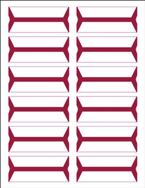 Acme Abgor File Folder Labels - (Sheets) - Red - 240 Labels per pack