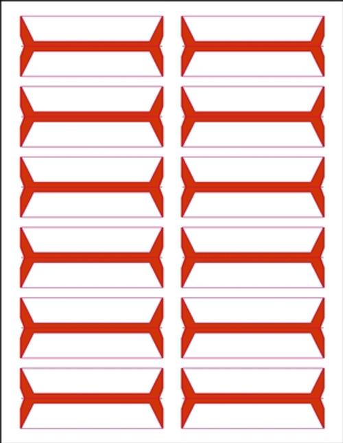 Acme Abgor File Folder Labels - (Sheets) - Orange - 240 Labels per pack