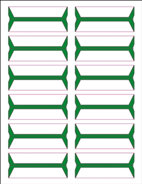 Acme Abgor File Folder Labels - (Sheets) - Green - 240 Labels per pack