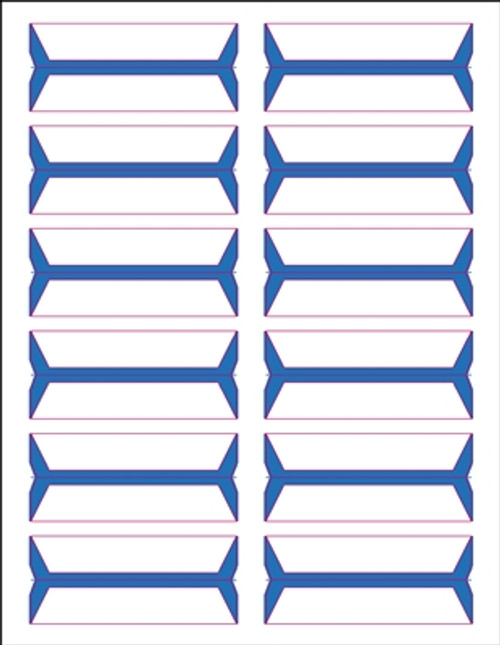 Acme Abgor File Folder Labels - (Sheets) - Azure Blue - 240 Labels per pack