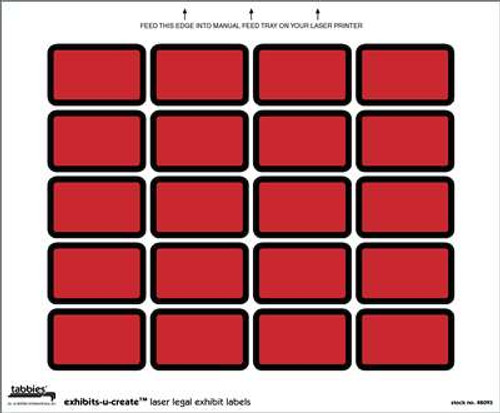Exhibits-U-Create Red 240/Pkg