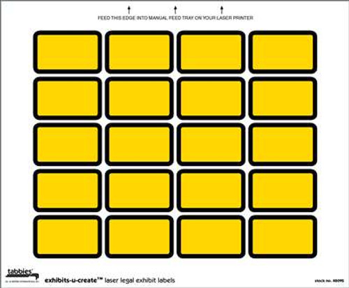 Exhibits-U-Create Yellow 240/Pkg