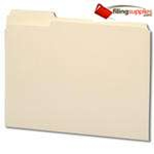 Top Tab File Folder, Manila, Letter Size, 11 pt, Single Ply Tab, Third Cut, Assorted Positions - FilingSupplies.com Brand