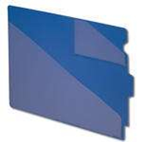 Smead End Tab Poly Out Guide, Two-Pocket Style, Center Position Tab, Extra Wide Letter Size, Blue, 50 per Box (61961)