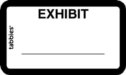 Exhibit' Label White 252 Labels/Pkg