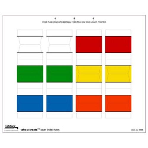 Tabs-U-Create - Assorted Colors - 60 Tabs/Pkg