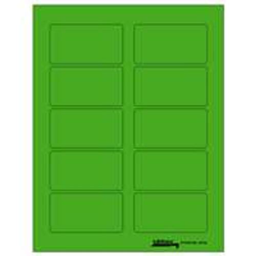 """Labels-U-Create Laser 1-3/4""""x3-1/4"""", Green"""