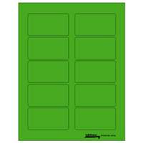 "Labels-U-Create Laser 1-3/4""x3-1/4"", Green"