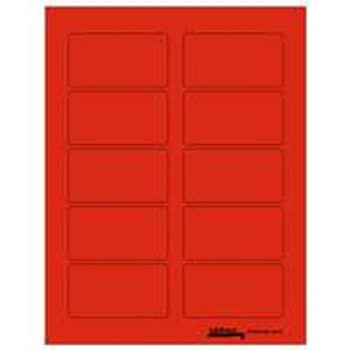 "Labels-U-Create Laser 1-3/4""x3-1/4"", Red"