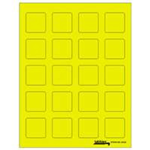 "Labels-U-Create Laser 1-1/2""x1-1/2"", Yellow"