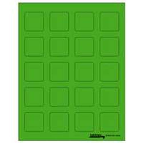 """Labels-U-Create Laser 1-1/2""""x1-1/2"""", Green"""