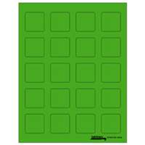 "Labels-U-Create Laser 1-1/2""x1-1/2"", Green"