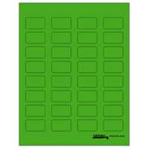 "Tabbies Labels-U-Create Laser 1-1/2""x7/8"", Green - 320 Labels Per Pack"