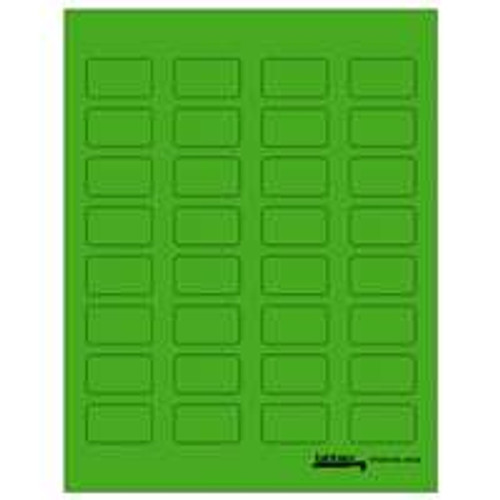 "Tabbies Labels-U-Create Laser 1-1/2""x7/8"", Green - 320 Labels Per Pack"