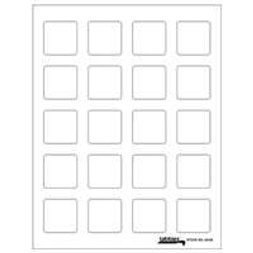"Labels-U-Create Laser 1-1/2""x1-1/2"", White"
