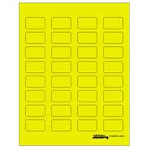 "Tabbies Labels-U-Create Laser 1-1/2"" x 7/8"" - Yellow - 320 Labels per package"