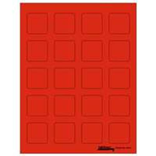 """Labels-U-Create Laser 1-1/2""""x1-1/2"""", Red"""