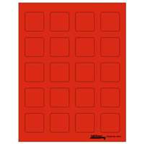 "Labels-U-Create Laser 1-1/2""x1-1/2"", Red"