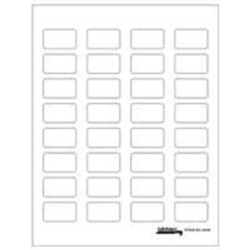 "Tabbies Labels-U-Create -  Laser - 1-1/2W ""x 7/8""W -  White - 320/Pack"