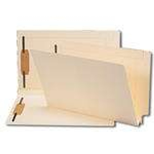 Smead End Tab Fastener File Folder, Shelf-Master Reinforced Straight-Cut Tab, 2 Fasteners, Legal Size, Manila, 50 per Box (37276)