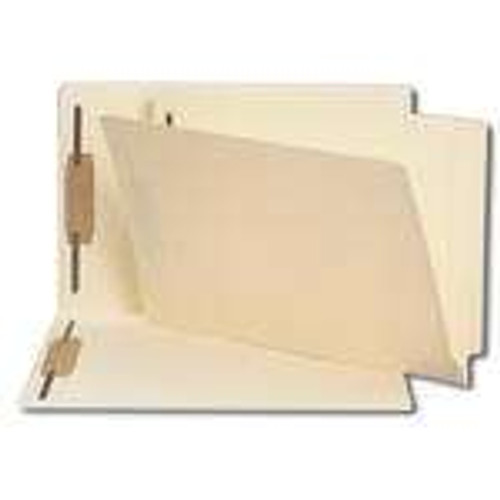 Smead End Tab Fastener File Folder, Shelf-Master Reinforced Straight-Cut Tab, 2 Fasteners, Legal Size, Manila, 50 per Box (37215) - 5 Boxes