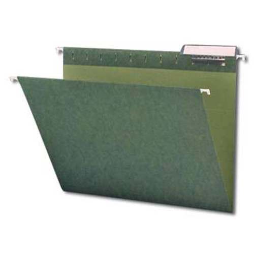 Smead Hanging File Folder with Tab, 1/3-Cut Adjustable Tab, Letter Size, Standard Green,  25 per Box (64035) - 10 Boxes