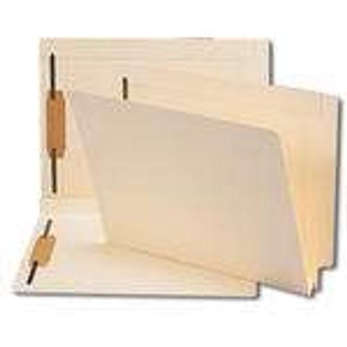 "Smead End Tab Fastener File Folder, Shelf-Master Reinforced Straight-Cut Tab, 2 Fasteners, Letter Size, 1.5"" Accordion Expansion, Manila, 50 per Box (34276)"