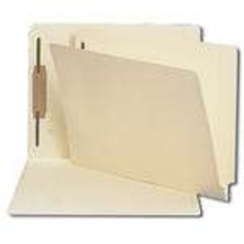 Smead End Tab Fastener Folder with Antimicrobial Product Protection, Reinforced Straight-Cut Tab, 1 Fastener, Manila (34113)