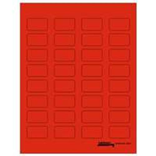 "Tabbies Labels-U-Create - Laser 1-1/2""W x 7/8 H"" - Red - 320 Labels Per Pack"