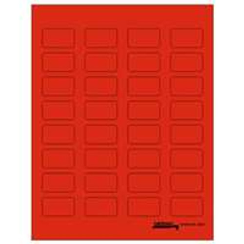 "Tabbies Labels-U-Create - Laser 1-1/2""W x 7/8 H"" - Red - 320 Labels Per Pack"