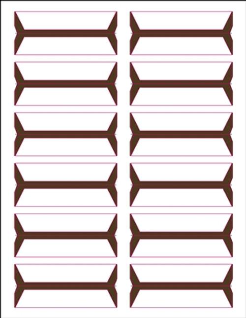 Acme Abgor File Folder Labels - (Sheets) - Brown - 240 Labels per pack