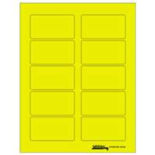 "Labels-U-Create Laser 1-3/4""x3-1/4"", Yellow"