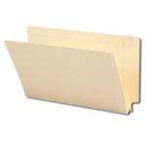 "Smead End Tab File Folder, Reinforced Straight-Cut Tab, 1-1/2"" Accordion Expansion, Legal Size, Manila, 50 per Box (27275)"