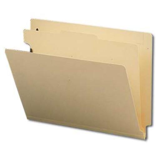 "Smead End Tab Classification File Folder, 1 Divider, 2"" Expansion, Letter Size, Manila, 10 per Box (26825) - 5 Boxes"