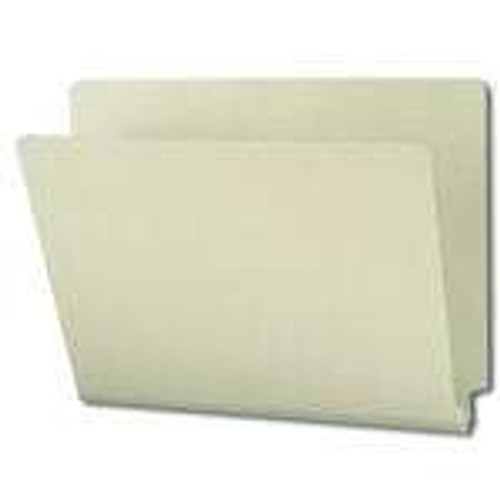"Smead End Tab Pressboard File Folder, Straight-Cut Tab, 1"" Expansion, Letter Size, Gray/Green, 25 per Box (26200)"