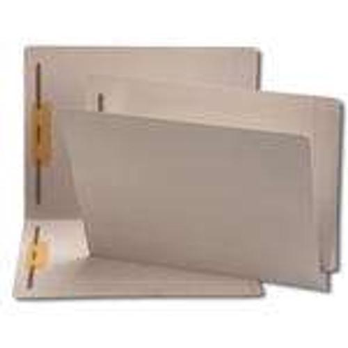 Smead End Tab Fastener File Folder, Shelf-Master Reinforced Straight-Cut Tab, 2 Fasteners, Letter Size, Gray, 50 per Box (25849)