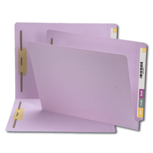 Smead 25540  End Tab Fastener File Folder, Shelf-Master Reinforced Straight-Cut Tab, 2 Fasteners, Letter Size, Lavender, 50 per Box (25540)