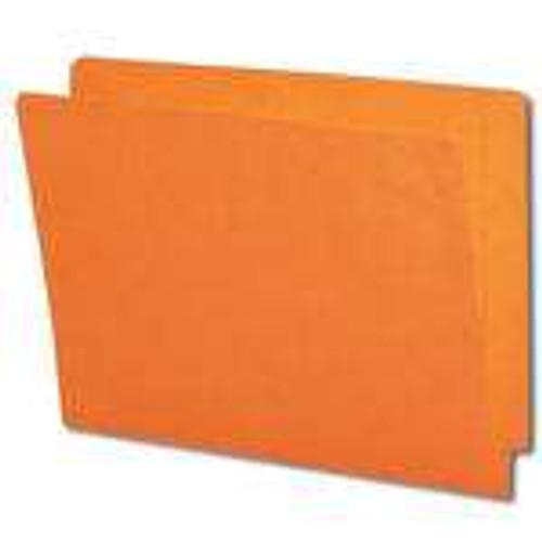 Smead Colored End Tab File Folder, Shelf-Master Reinforced Straight-Cut Tab, Letter Size, Orange, 100 per Box (25510)