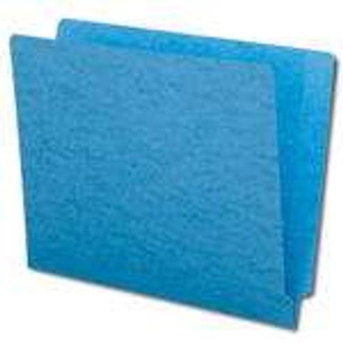 Smead Colored End Tab File Folder, Shelf-Master Reinforced Straight-Cut Tab, Letter Size, Blue, 100 per Box (25010)