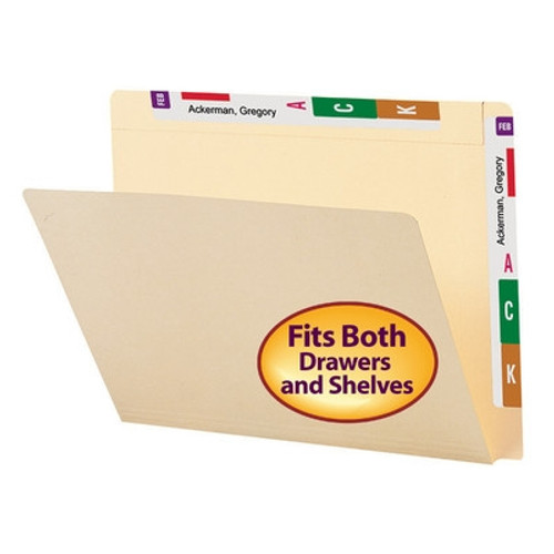 Smead Conversion File Folder Top and End Tab, Letter Size, Manila, 100 per Box (24190)
