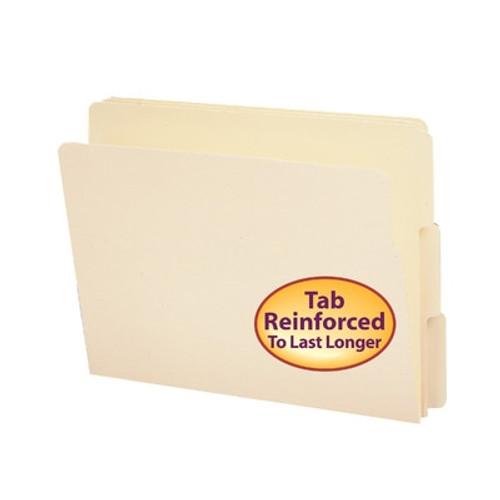 Smead End Tab File Folder, Shelf-Master Reinforced 1/3-Cut Tab, Letter Size, Manila, 100 per Box (24134)