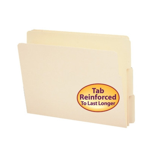 Smead End Tab File Folder, Shelf-Master Reinforced 1/3-Cut Tab, Letter Size, Manila, 100 per Box (24134)