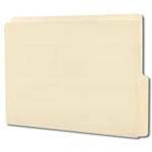 Smead End Tab File Folder, Shelf-Master Reinforced 1/2-Cut Tab Bottom Position, Letter Size, Manila, 100 per Box (24128)