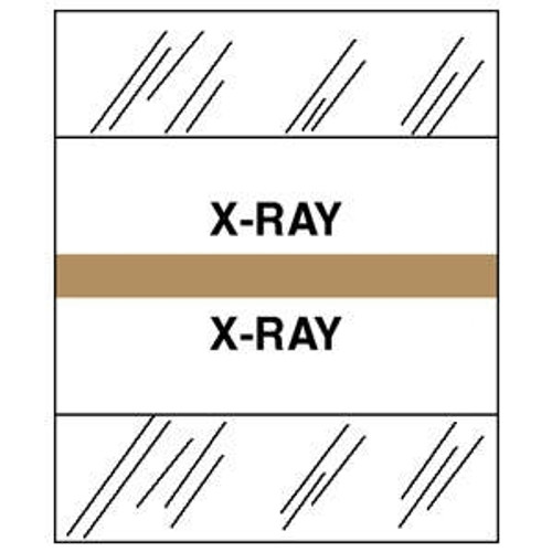 "Tabbies Patient Chart Index Tabs -  ""X-Ray"" - Tan - 1-1/4"" Tabs - 100/Package"